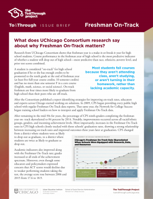 To&Through Issue Brief: Freshman On-Track