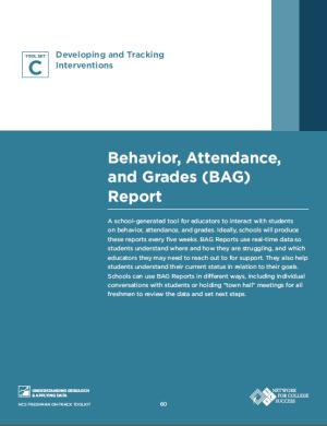 Behavior attendance and grades report high school