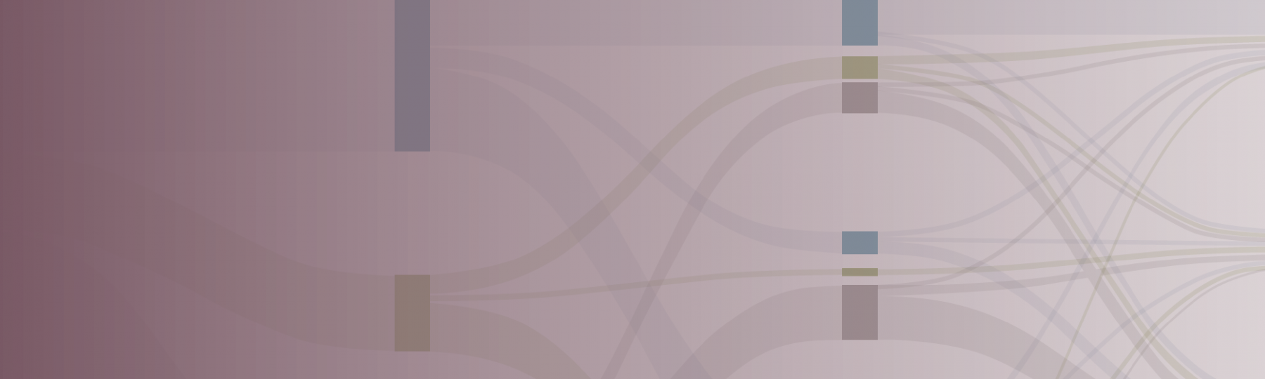 Screenshot of Sankey diagram on the cover of the report with a purple color gradient on top