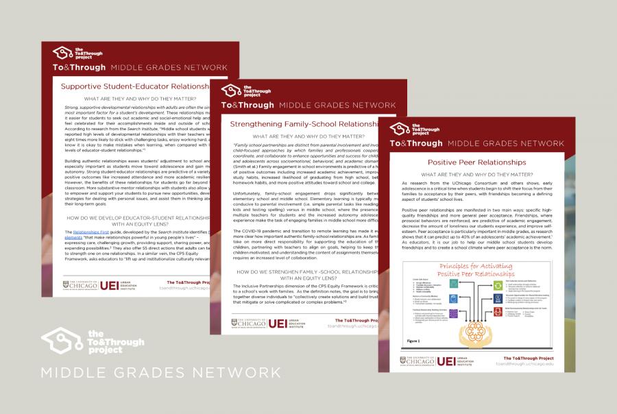 Supportive developmental relationships gather data middle school grades