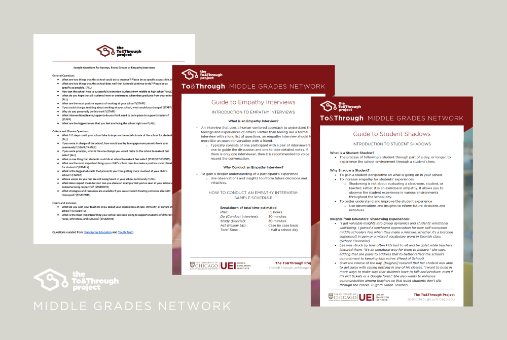 Screenshots of the covers of the student and family engagement guides.