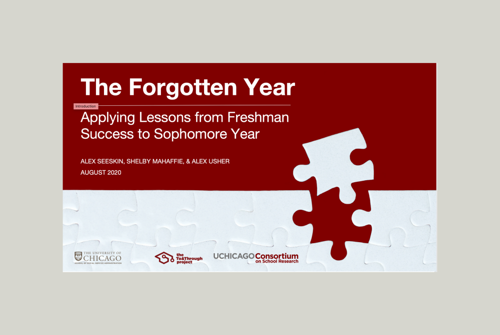The Forgotten Year: Applying Lessons from Freshman Success to Sophomore Year Report