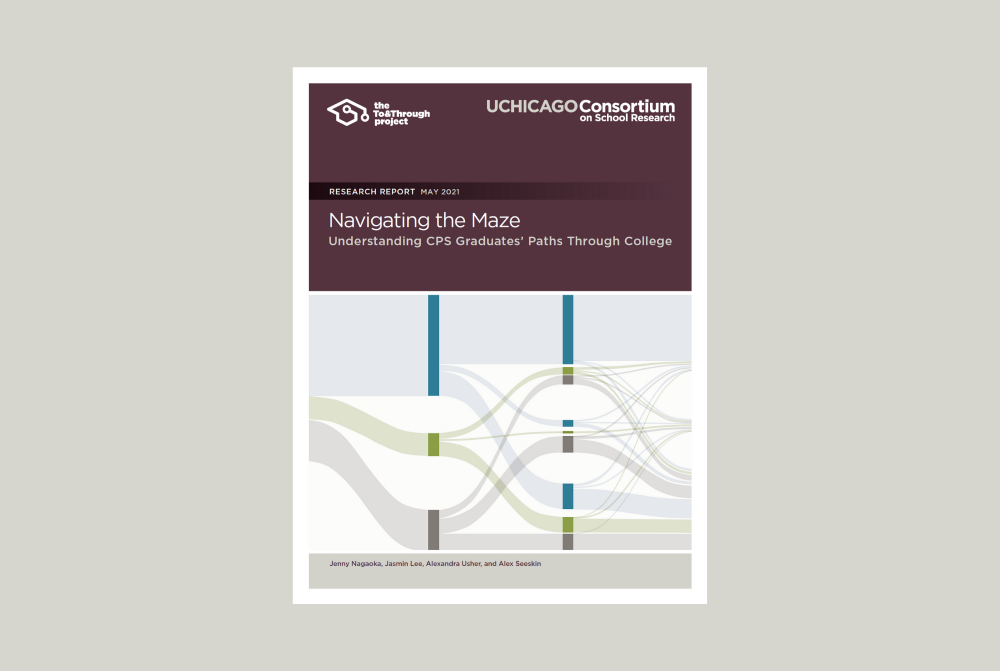 Screenshot of the front cover of the Navigating the Maze research report