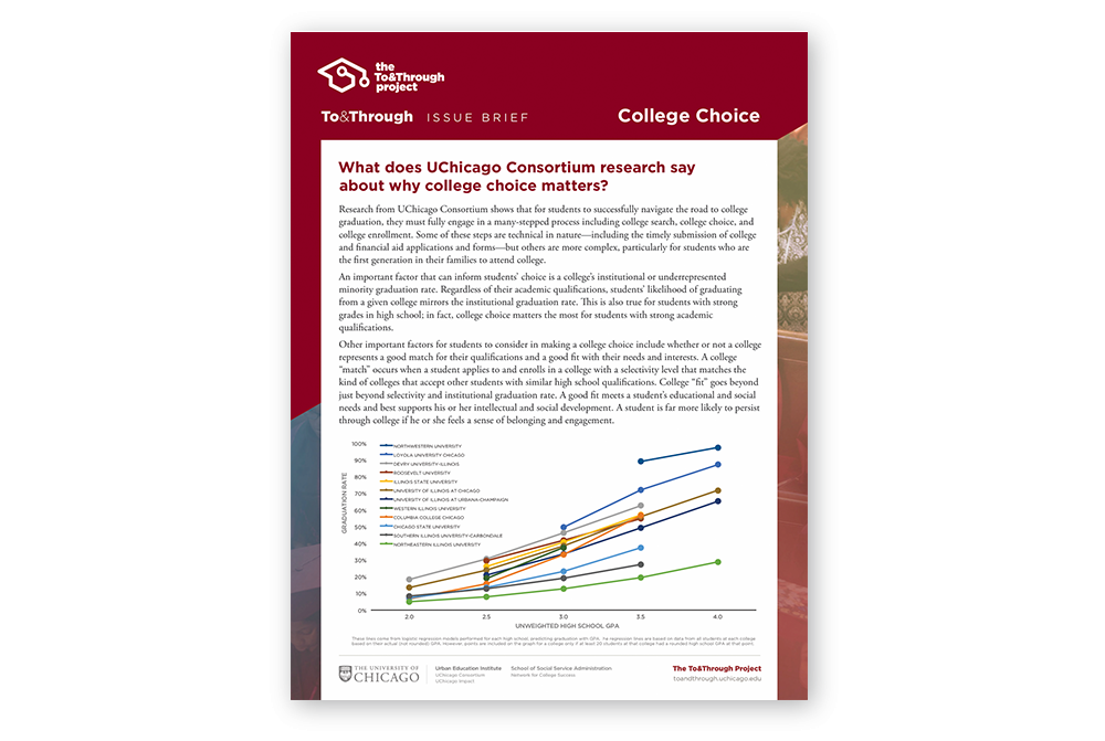 To&Through Issue Brief: College Choice