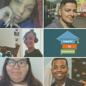 A collage of photos of the students the To&Through team talked to this summer about the impact of COVID-19 on their college persistence journeys.